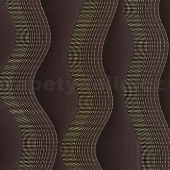 Vliesové tapety na zeď Studio Line - Graceful vlnovky zlato-hnědé - POSLEDNÍ KUS