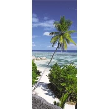 Vliesové fototapety palma na pláži rozměr 92 cm x 220 cm