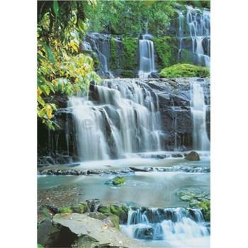 Vliesové fototapety Pura Kaunui Falls rozměr 124 cm x 184 cm