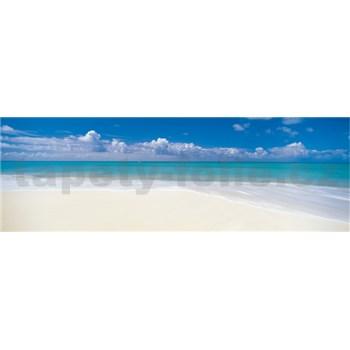 Vliesové fototapety opuštěná pláž rozměr 368 cm x 127 cm