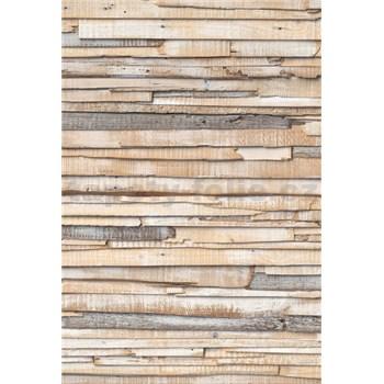 Vliesové fototapety obílené dřevo rozměr 124 cm x 184 cm