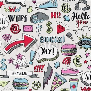 Vliesové tapety na zeď IMPOL Sweet and Cool Hashtag barevné