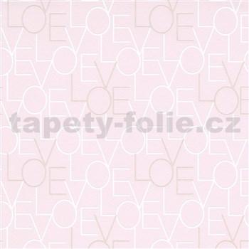 Vliesové tapety na zeď IMPOL Sweet and Cool LOVE růžové