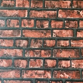 Papírové tapety na zeď Sweet & Cool cihlová stěna červená