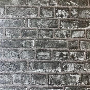 Papírové tapety na zeď Sweet & Cool cihlová stěna černá