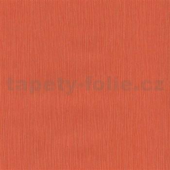 Papírové tapety na zeď Sweet & Cool oranžové strukturované proužky s třpytkami