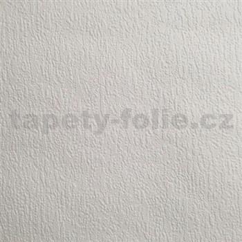 Papírové tapety na zeď omítkovina sněhově bílá