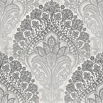 Vliesové tapety na zeď Spectrum moderní vzor šedo-stříbrný