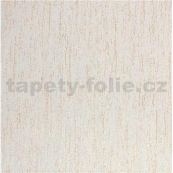 Vliesové tapety na zeď Collection strukturovaná krémová s měděnými třpytkami-AKCE