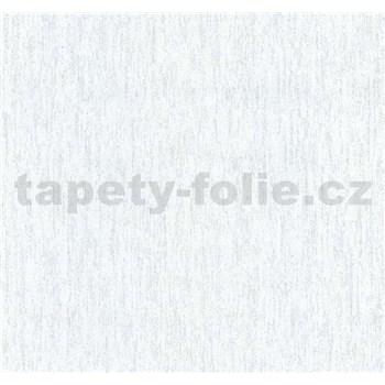 Vliesové tapety na zeď Collection strukturovaná bílo-šedá se stříbrnými třpytkami