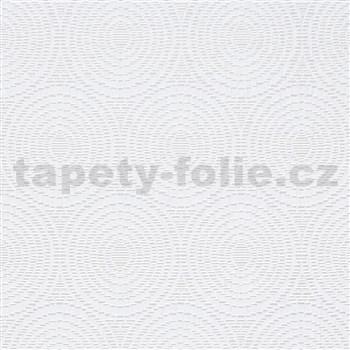 Vliesové tapety na zeď IMPOL Timeless kruhy bílé