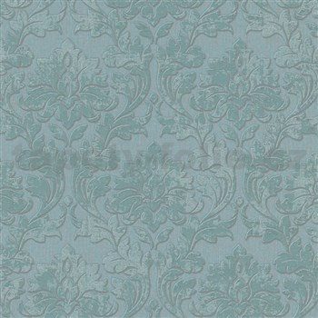 Vliesové tapety na zeď IMPOL Timeless ornamenty zelené se stříbrnými třpytkami