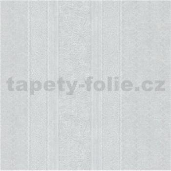 Vliesové tapety IMPOL Timeless drobné ornamenty bílé na světle šedém podkladu
