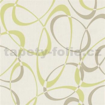 Tapety na zeď Timeless - elipsy zeleno-hnědé MEGA SLEVA