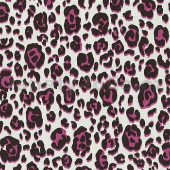 Vliesové tapety na zeď Trend Edition vzor leopard růžový na bílém podkladu - POSLEDNÍ KUS