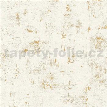 Vliesové tapety na zeď Trendwall omítkovina zlato-bílá