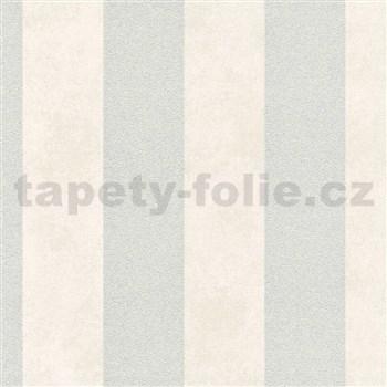 Vliesové tapety na zeď Trendwall pruhy stříbrno-krémové
