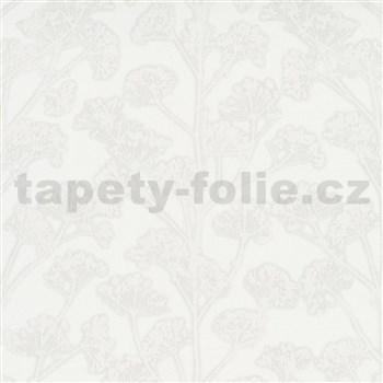 Vliesové tapety na zeď Trésor florální vzor šedý