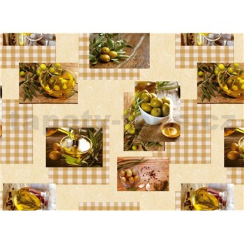 Ubrus metráž olivy