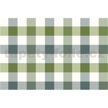 Ubrus návin 20 m x 140 cm kostky zeleno-šedé