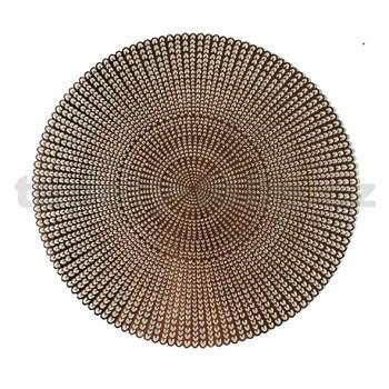 Vinylové dekorativní prostírání na stůl Ambiente růžově zlaté 38 cm