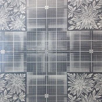 Ubrus metráž transparentní čtverce matné