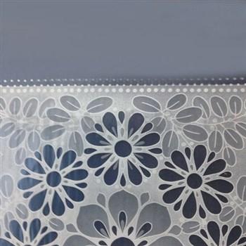 Ubrusy návin 50 m x 140 cm transparentní květy matné