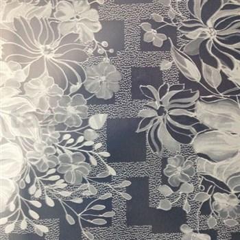 Ubrus metráž transparentní květiny matné