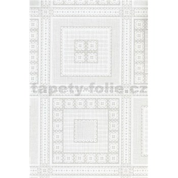Ubrusy návin 20 m x 140 cm čtverce bílé