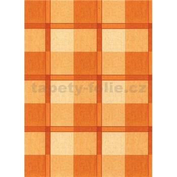 Ubrusy návin 20 m x 140 cm káro oranžové