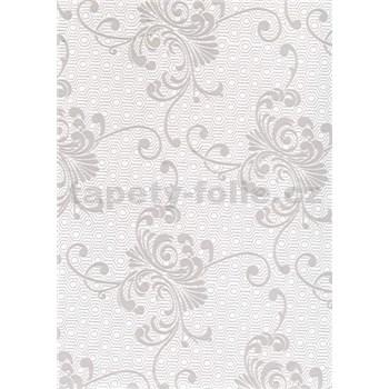 Ubrusy návin 20 m x 140 cm ornament šedý
