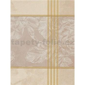 Ubrusy návin 20 m x 140 cm růže bílo-hnědá