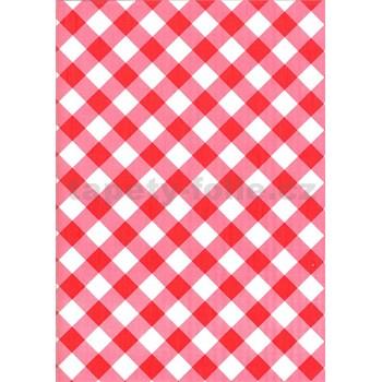 Ubrusy návin 20 m x 140 cm káro červené