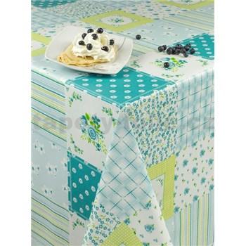 Ubrusy návin 20 m x 140 cm patchwork modrý