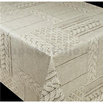 Ubrusy návin 20 m x 140 cm pletený vzor hnědý