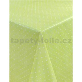 Ubrusy návin 20 m x 140 cm puntíky zelené