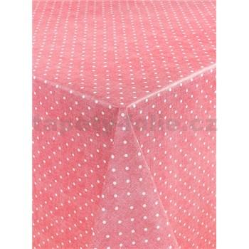 Ubrusy návin 20 m x 140 cm puntíky červené