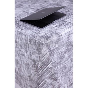 Ubrus metráž textilní struktura šedý