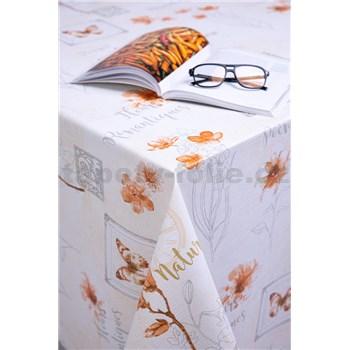 Ubrusy návin 20 m x 140 cm Romantic oranžový