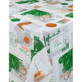 Ubrusy návin 20 m x 140 cm čas na relax s textilní strukturou