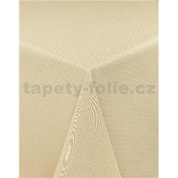 Ubrus metráž pletený vzor béžový s textilní strukturou