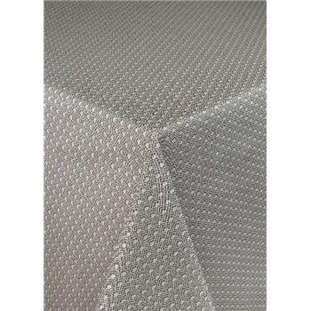 Ubrusy návin 20 m x 140 cm pletený vzor hnědý s textilní strukturou