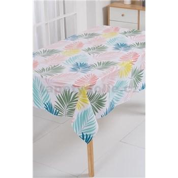 Ubrus metráž pastelové palmové listy