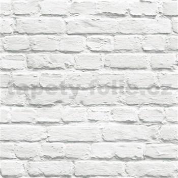 Vliesové tapety na zeď Just Like It cihla šedá s nátěrem