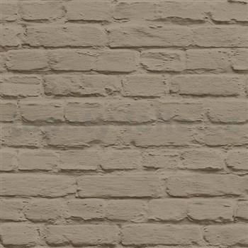 Vliesové tapety na zeď Just Like It cihla hnědá s nátěrem