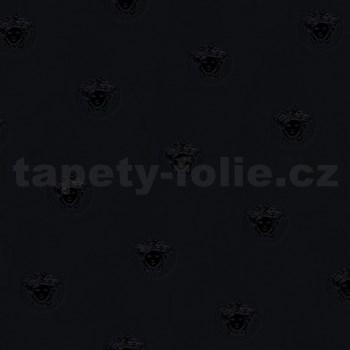 Luxusní vliesové tapety na zeď Versace III hlava medúzy černá