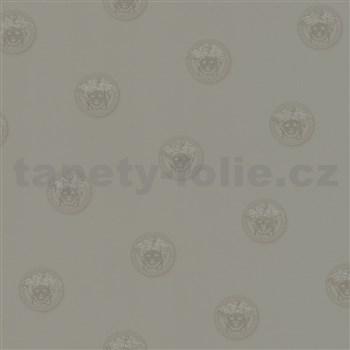 Luxusní vliesové  tapety na zeď Versace III hlava medúzy šedá