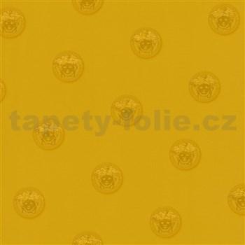 Luxusní vliesové  tapety na zeď Versace III hlava medúzy zlatá