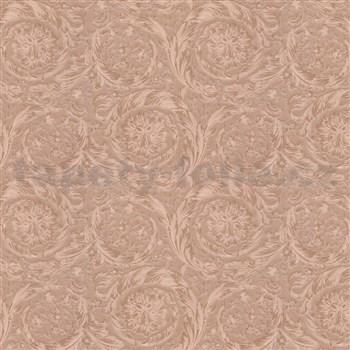 Luxusní vliesové  tapety na zeď Versace IV barokní vzor měděný