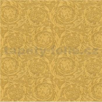 Luxusní vliesové  tapety na zeď Versace IV barokní vzor zlatý